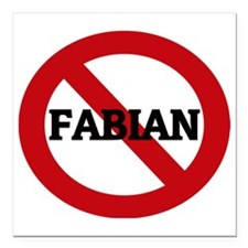 "FABIAN Square Car Magnet 3"" x 3"""