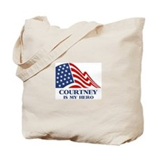 Courtney is my hero Tote Bag