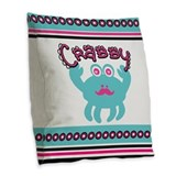 Crabby but cute curtains Throw Pillows