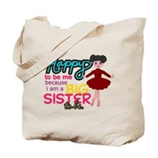 Happy to be Me - Big Sister Ballerina Tote Bag