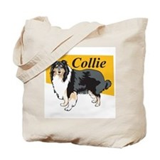 Collie Title Tote Bag