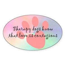 Love is Contagious Oval Decal