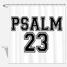 Psalm 23 Bible Verse Shower Curtain