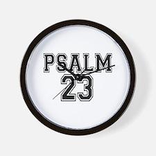 Psalm 23 Bible Verse Wall Clock