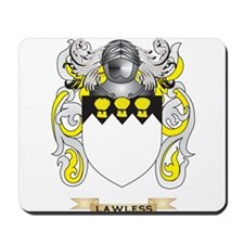 Lawless Coat of Arms - Family Crest Mousepad