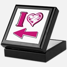 I heart - Pink Arrow Keepsake Box
