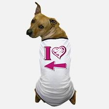 I heart - Pink Arrow Dog T-Shirt