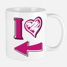 I heart - Pink Arrow Mug