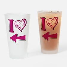 I heart - Pink Arrow Drinking Glass