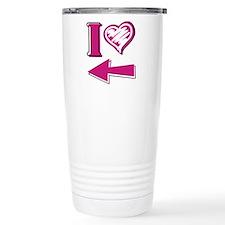 I heart - Pink Arrow Travel Mug
