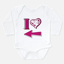 I heart - Pink Arrow Body Suit