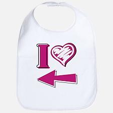 I heart - Pink Arrow Bib
