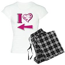 I heart - Pink Arrow Pajamas