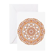 Ornament orange weiss Greeting Card