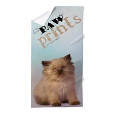 Brown Persian Kitten Beach Towel