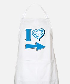 I Heart - Blue Arrow Apron