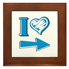 I Heart - Blue Arrow Framed Tile