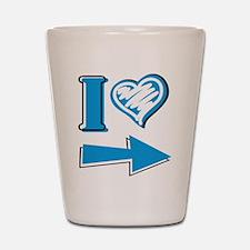 I Heart - Blue Arrow Shot Glass