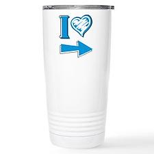 I Heart - Blue Arrow Travel Coffee Mug
