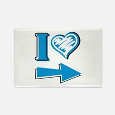 I Heart - Blue Arrow Rectangle Magnet (10 pack)