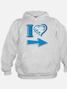 I Heart - Blue Arrow Hoodie
