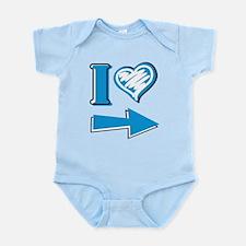 I Heart - Blue Arrow Infant Bodysuit