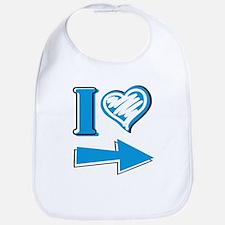 I Heart - Blue Arrow Bib