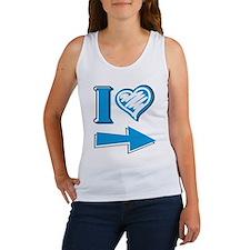 I Heart - Blue Arrow Women's Tank Top