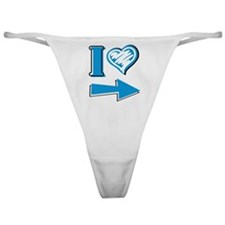 I Heart - Blue Arrow Classic Thong