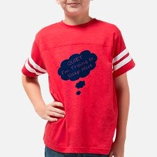 Maternity Humor Quiet trying  Youth Football Shirt