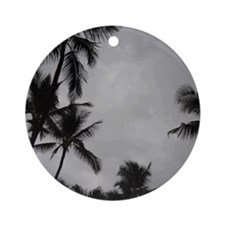 Palm Trees Sillouette Round Ornament