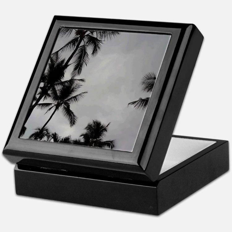 Palm Trees Sillouette Keepsake Box