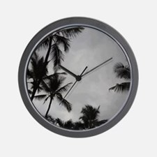 Palm Trees Sillouette Wall Clock