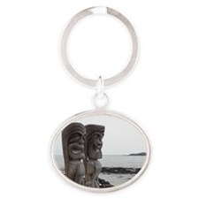 Place of Refuge Tikis Oval Keychain