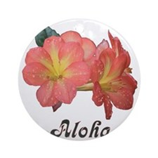 Rhododendrons Aloha Round Ornament