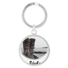 Place of Refuge Tikis LT Round Keychain
