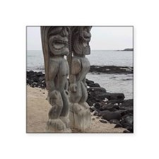 """Place of Refuge Tikis Square Sticker 3"""" x 3"""""""