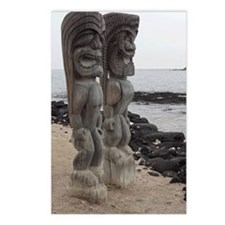 Place of Refuge Tikis Postcards (Package of 8)