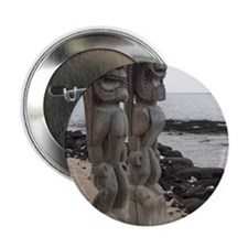 "Place of Refuge Tikis 2.25"" Button"