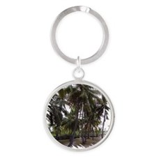 Place of Refuge Palms Round Keychain