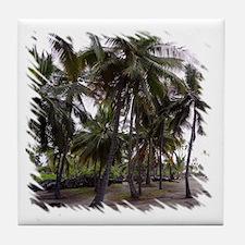 Place of Refuge Palms Tile Coaster