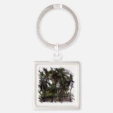 Place of Refuge Palms Square Keychain