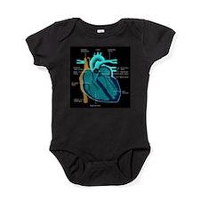 Human Heart Anatomy Baby Bodysuit