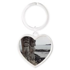 Place of Refuge Tikis Heart Keychain