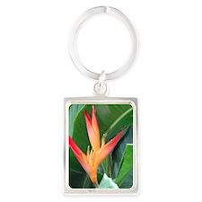 Bird of Paradise Portrait Keychain