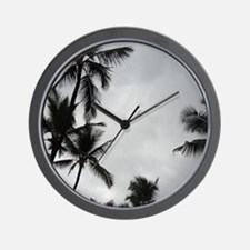 Palm Trees Silhouette Wall Clock