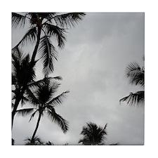 Palm Trees Silhouette Tile Coaster