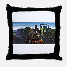 The Flying Dutchman Cutaway Train Throw Pillow