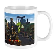 The Flying Dutchman Cutaway Train Small Mug
