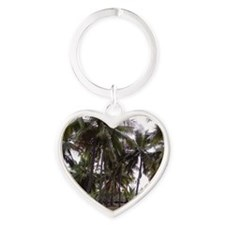 Place of Refuge Palms Heart Keychain